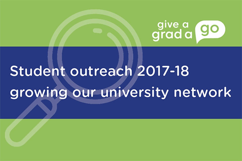 Student outreach 2017-18 - growing our university network