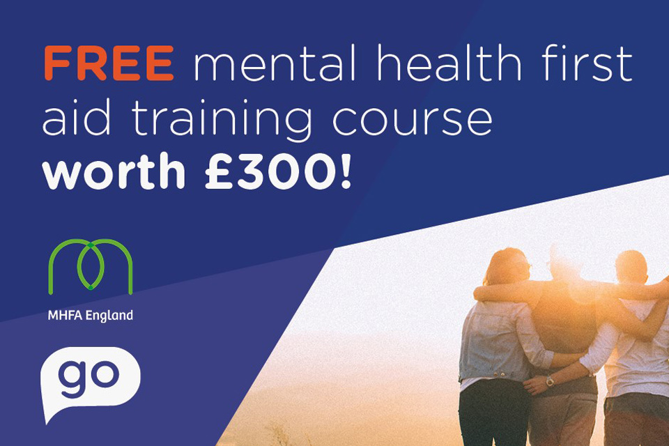 Win a Mental Health First Aid training course - worth £300!