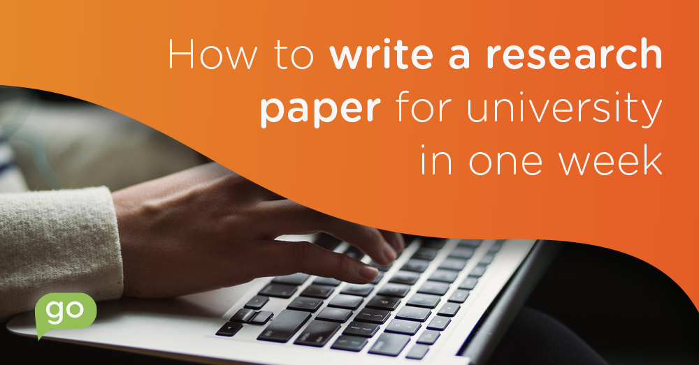How to write a research paper at University