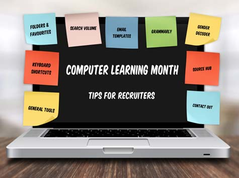 Computer learning month tech skills lesson