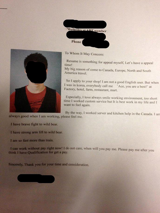 The lost in translation cover letter