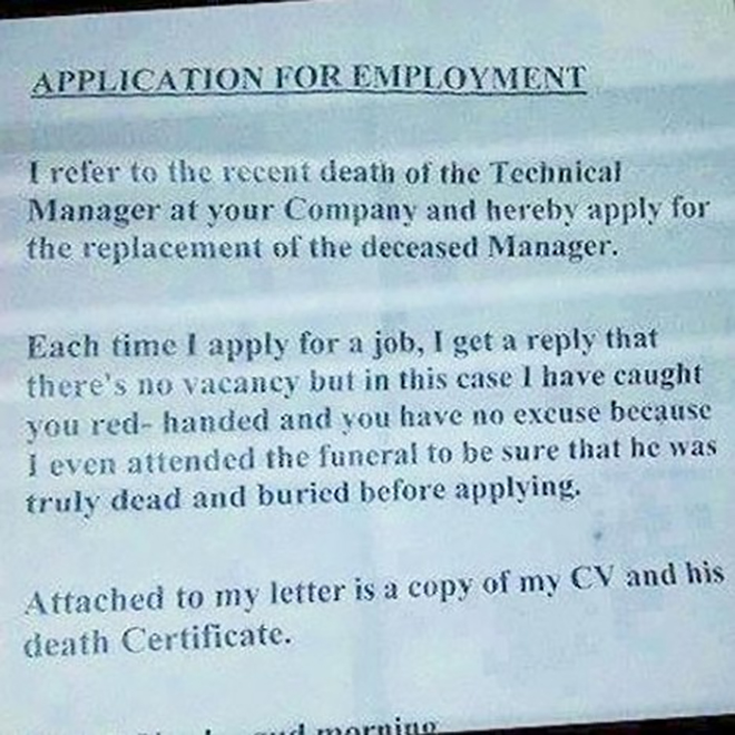 the creepy cover letter